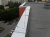 Oplechování zídek panelového domu na ulici Bosonožská, Brno